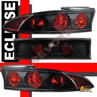 99 MITSUBISHI ECLIPSE HALO PROJECTOR HEADLIGHTS G2 & TAIL LIGHTS BLACK