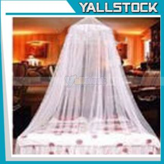 New White Elegant Netting Bed Canopy Mosquito Net