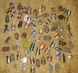 JOB LOT Vtg bike bicycle head badges emblems Gazelle Super Sport Tax