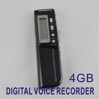 New 4GB 650Hr Digital Voice Recorder Dictaphone  Player USB