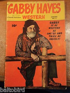 Gabby Hayes Western 2 Comic Book 1949 Good Bright Cover