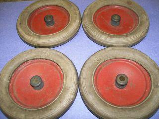Gilbert Erector DM White Truck Wheels Dr Tires Set of 4