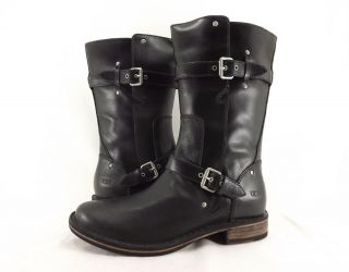 Womens Boots UGG Australia Gillespie Distressed Leather Black New