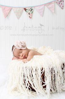 Pearl Girly Crochet Newborn Halo Headband Rose Flower Baby Photography