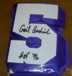 Gail Goodrich Autographed Signed 5 Jersey Lakers HOF