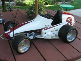 Gilmer 1 4 Scale Midget Race Car Custom White with Red Accent