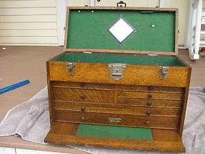 Gerstner Small Old Antique Machinist Tool Chest Box