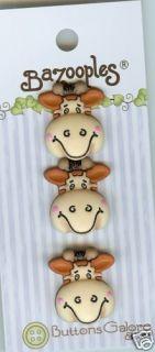 Gertrude The Giraffe Bazooples Novelty Buttons Sewing