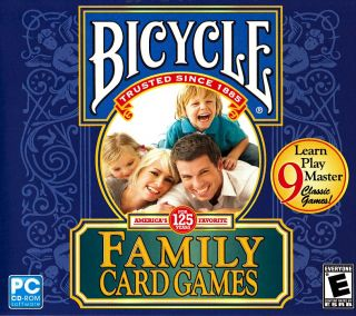 Bicycle Family Card Games PC 9 Games Brand New 705381209409