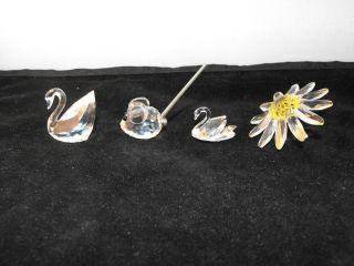 Lot of 4 Different Swarovski Crystal Figurines All Vintage