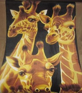 New Cute Giraffes Family Beach Bath Pool Towel Gift Giraffe Safari Zoo
