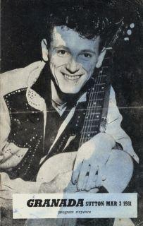 gene vincent 1961 u k tour concert program book