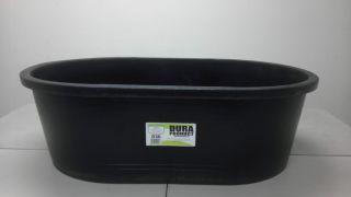 Heavy Duty 50 Gallon Plastic Oval Stock Tank Tub for Gardening