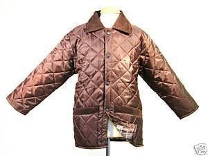 New Boys Girls Quilted Horse Riding Jacket Coat Brown