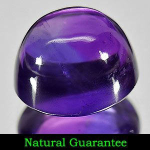 Cabochon Natural Purple Amethyst Gemstone from Brazil Unheated