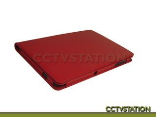 Red Leather Case Stand Screen Protector Stylus for Samsung Galaxy Tab