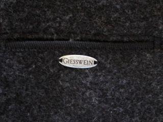Giesswein of Austria Charcoal Gray Wool Coat Sz XL REDUCED $$
