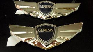 Hyundai Genesis V8 Sedan Wing Hood Trunk Emblem from MD USA 2 3 Day