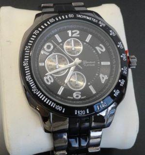 geneva platinum mens round dial face link watch