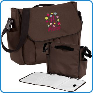 Custom Personalized Monogrammed Baby Diaper Bag Gift