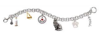 Little Gifts Cat Pet Rhodium Plated Charm Bracelet