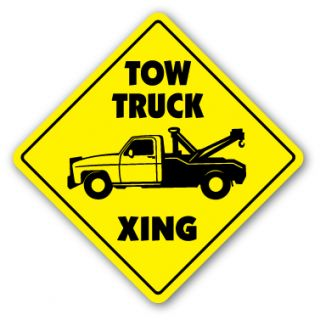 Tow Truck Crossing Sign Wrecker Garage Driver Gift Flatbed Zone