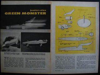 Art Arfons Green Monster How to Build Plans 10 Jetex