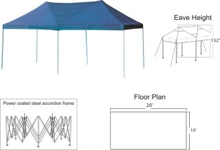 Gigatent The Party Tent 20 x 10 Shelter Canopy Walls Only White