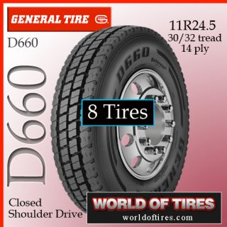 Tires General D660 11R24 5 Semi Truck Tire 11R24 5 11R245 Truck Tires