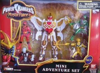 Power Rangers Mystic Force Megazord 4 Mini Action Figures Playset New