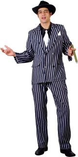 Godfather Gangster Italian 20s Mens Fancy Dress Up Mafia Costume Party
