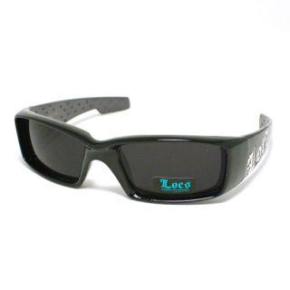 Dark Black Gangster Sunglasses Cholo Shades Locs New