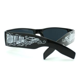 New All Black Gangster Biker Sunglasses Mens Riding Low