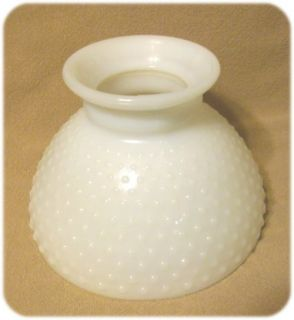 Vtg White Hobnail Glass Lamp Shade Milk Glass GWTW Style