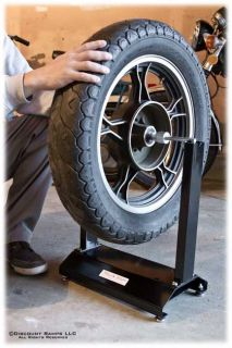 Using the Motorcycle Wheel Balancer in a home garage
