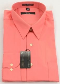 Geoffrey Beene Mens Salmon Dress Shirt 15 5 34 35