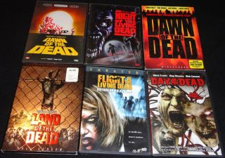 George A Romero 6 Zombie Horror Film Classics 6 DVD Disc Collection