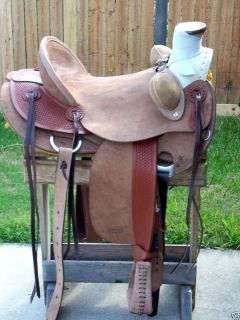 14 1 2 New Western Half Breed Cowboy Roping Wade A Fork Saddle