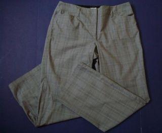 Sz 3 16 Stretch Cotton Black White Glen Plaid Career Pants