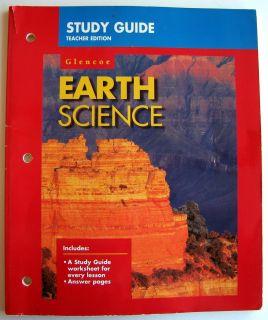Glencoe Earth Science Study Guide Teachers Edition 1997