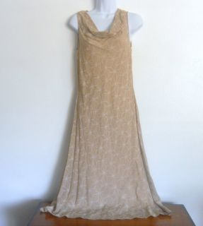 Calvin Klein Elegant Scoop Neck Full Length Cocktail Dress Silk Size 4