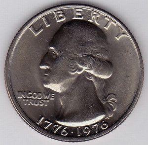 1976 P GEORGE WASHINGTON OBV BICENTENNIAL QUARTER 25 TWENTY FIVE CENT