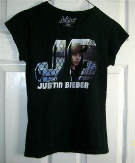 Girl XL Black Justin Bieber Knit School Shirt Clothing T Shirt Top X52