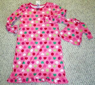 Flannel Pajamas PJs for Girls American Girl 18 Doll SM Med LG