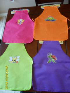 Kids Apron Girl 20in Crafts Arts Baking Painting Lady Bug Butterfly