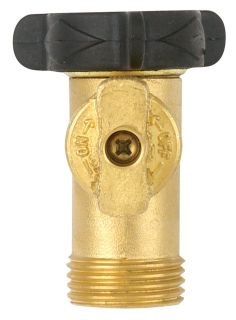 high flow solid brass single connection garden hose shut off valve