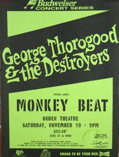 George Thorogood 1994 Tour Concert Poster