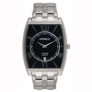 New Kienzle Klassic Mens Titanium Ultra Slim Black Dial Date Watch