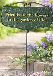 Friendship Garden Poem Sign Made in USA