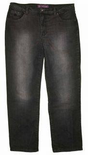 Gloria Vanderbilt Sz 16 Womens Black Jeans Denim Pants Stretch IG27